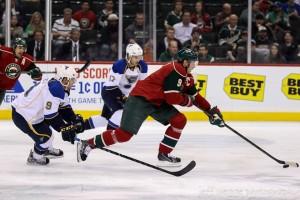 Captain Mikko Koivu's line is the only one set to begin the season.(MHM photo / Copyright, Jeff Wegge)