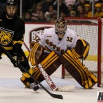Featured Image:<> Gopher goalie Adam Wilcox will be staring down some unfamiliar foes this season in the Big Ten. (MCM Photo / © Jeff Wegge)