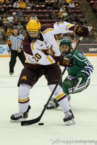 Freshman Michael Brodzinski of Blaine scored in his collegiate debut vs. Mercyhurst. (MHM Photo / © Jeff Wegge)