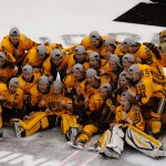 Featured Image: Minnesota celebrates its second consecutive Frozen Four title. (Photo by Jordan Doffing)