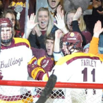 <>Featured Image:<> This is a scene UMD's Joe Basaraba and Austin Farley hope to repeat often in the NCHC's inaugural season. (Photo: Minnesota-Duluth Athletics)