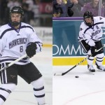 Featured Image: Brothers Casey (L) and Josh (R) Nelson are teammates for just the second time in their hockey careers this season as defensemen for Minnesota State. (Photos courtesy of Minnesota State University Athletics)