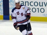 Featured Image: Jamie Langenbrunner during a break during the preliminary game against Canada during the 2010 Winter Olympics. (Photo: Rosie Perera)