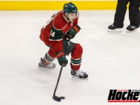 Former UMD star Justin Fontaine is enjoying a dream season with the Wild. (MHM Photo/Jeff Wegge)