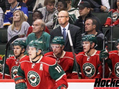 Featured Image: The Wild's four-game winning streak has cooled coach Mike Yeo's hot seat. (Photo: Jeff Wegge/MHM)