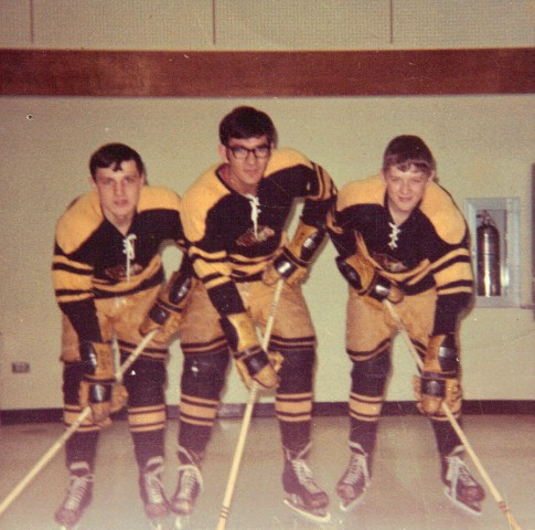 Henry Boucha with Warroad Warriors team mates