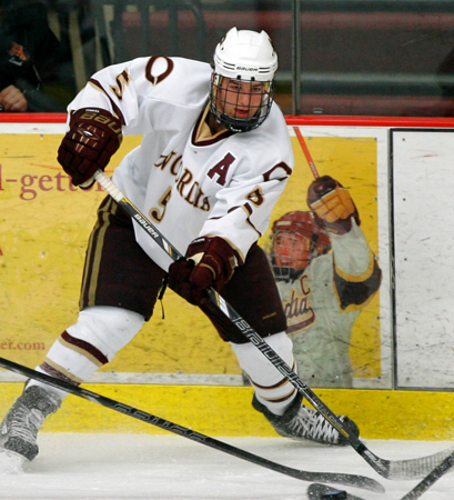 Andrew Deters has starred on - and off - the ice for the Concordia men's hockey team. (Photo courtesy of Concordia Sports Information)