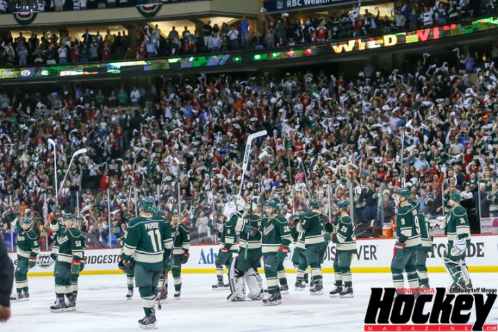Wild players and fans express their mutual admiration. (MHM Photo / Jeff Wegge)