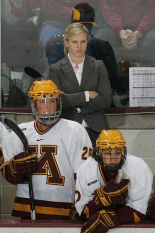 Natalie Darwitz served as an assistant coach for Minnesota in 2008-09 and 2010-11, while taking the 2009-10 season to compete in her third-straight Olympics in 2010. (Photo / University of Minnesota Athletics)