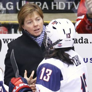 Harvard coach Katey Stone led Team USA to silver in Sochi, Russia earlier this year  as the first female to coach the U.S. women in the Olympics. (Photo -Tom Szczerbowski/USA TODAY Sports