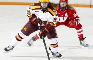Minnesota's Dani Cameranesi's goal and assist helped lift the No. 2 Gophers over No. 3 Wisconsin on Saturday afternoon at Ridder Arena. (Photo / University of Minnesota Athletics)