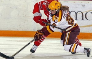 Dani Cameranesi and the Gophers let one get away against the Buckeyes on Friday. (Photo / University of Minnesota Athletics)