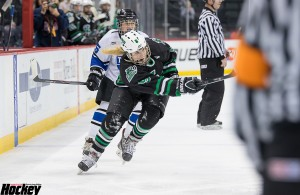 Hill-Murray forward Jess Bonfe's third-period goal turned out to be the difference in the Pioneers' 2-1 state championship game win over Minnetonka on Saturday night at Xcel Energy Center. (MHM Photo / Jonathan Watkins)