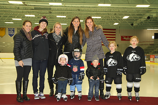The highly-decorated Raiders (pictured from left to right): Winny (Brodt) Brown, Erika Allen, Bethany Brausen, Renee (Curtin) Schwartz, Ronda (Curtin) Engelhardt