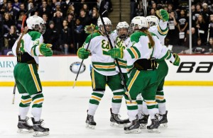 After a 3-1 win over Lakeville South, Edina is celebrating capturing a Class 2A girls' third-place title. (MHM Photo /Tim Kolehmainen)