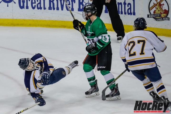 It was another great run for Hermantown but, despite a late rally, the Hawks once again fell to East Grand Forks in their Class 1A title tilt on Saturday, March 7 at Xcel Energy Center. (MHM Photo (Jeff Wegge)