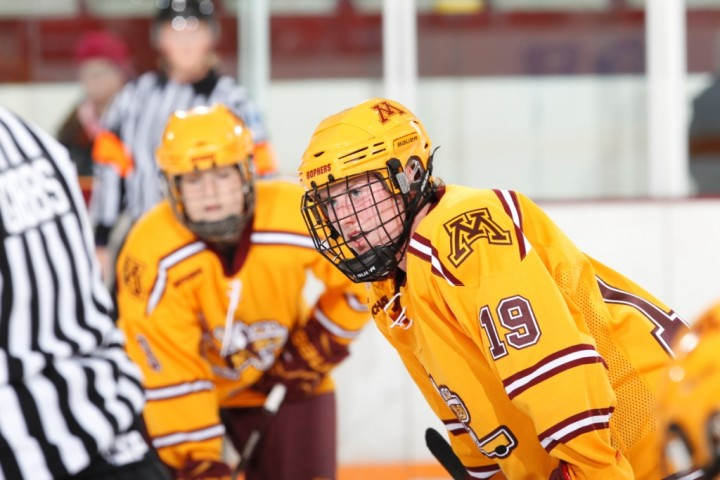 """Minnesota coach Brad Frost says Pannek, """"sees the ice at an elite level."""" (Photo - Eric Miller/Gopher Athletics)"""