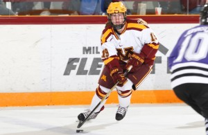 Minnesota's Kelly Pannek has made an impact on the Gophers as a freshman. (Photo - Eric Miller/Gopher Athletics)