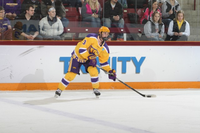 Crookston native Mark Bittner stepped up on defense for Division III runner-up UW-Stevens Point this season. (Photo by Ryan Coleman, d3photography.com)