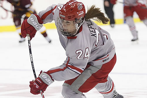 Ohio State junior forward Claudia Kepler (WCHA.com Photo)