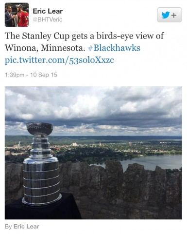 Cup Over Winona Tweet