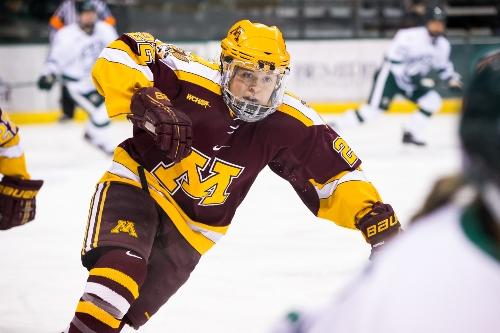 Minnesota senior forward Hannah Brandt (MHM Photo / Brent Cizek)