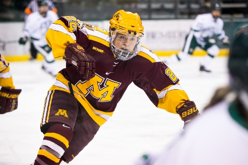 Minnesota senior forward Hannah Brandt (MHM Photo / Brent Cizek)