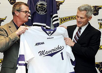 Minnesota State head coach John Harrington. (WCHA.com photo)