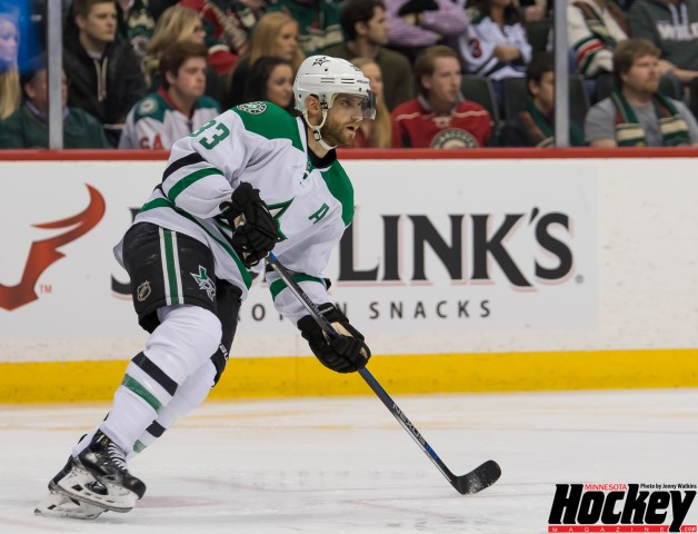 Fellow Iron Ranger Alex Goligoski of the Dallas Stars benefited from Guentzel's training from 2004-2007. (MHM Photo / Jonny Watkins)
