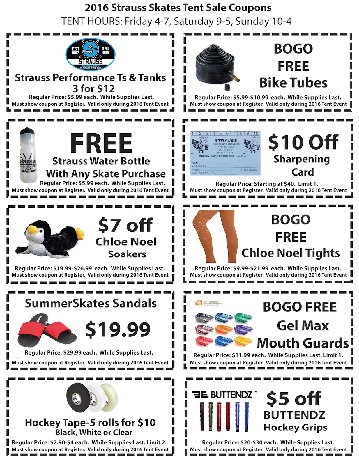 2016 Strauss Tent Sale Coupons
