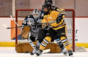 The Boston Pride's Zoe Hickel played her college hockey at UMD (Photo by Troy Parla)