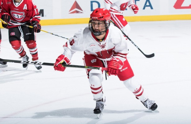 Former Minnetonka Skipper Presley Norby has made a seamless transition from high school to college hockey at Wisconsin. (Photo courtesy of University of Wisconsin Athletics / David Stluka)