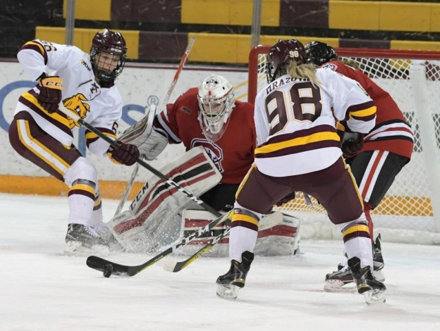 St. Cloud State's Janine Alder (Photo by Brett Groehler)