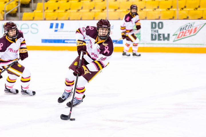 Minnesota Duluth's Ashleigh Brykaliuk (Photo by Brent Cizek)