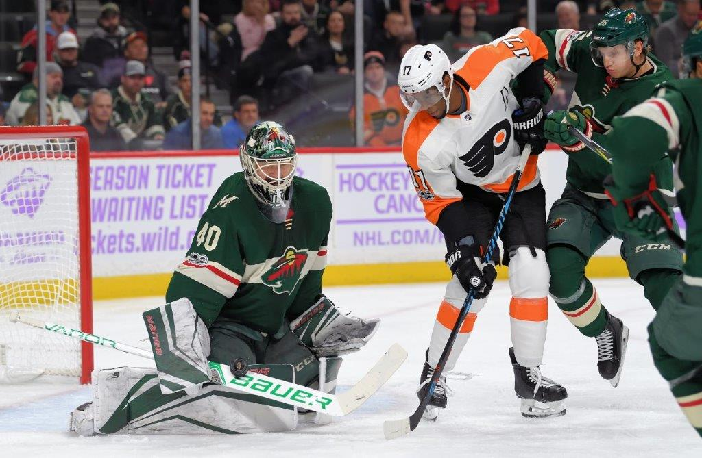Wild, Dubnyk stop Flyers for third shutout in a row