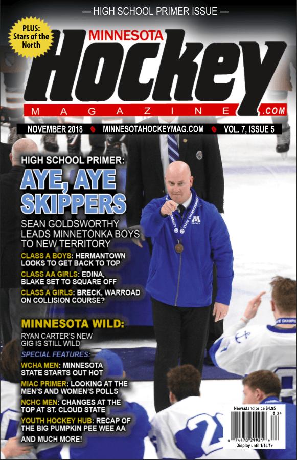 MN H.S.: Minnesota Hockey Magazine November 2018 (volume 7, Issue 5)
